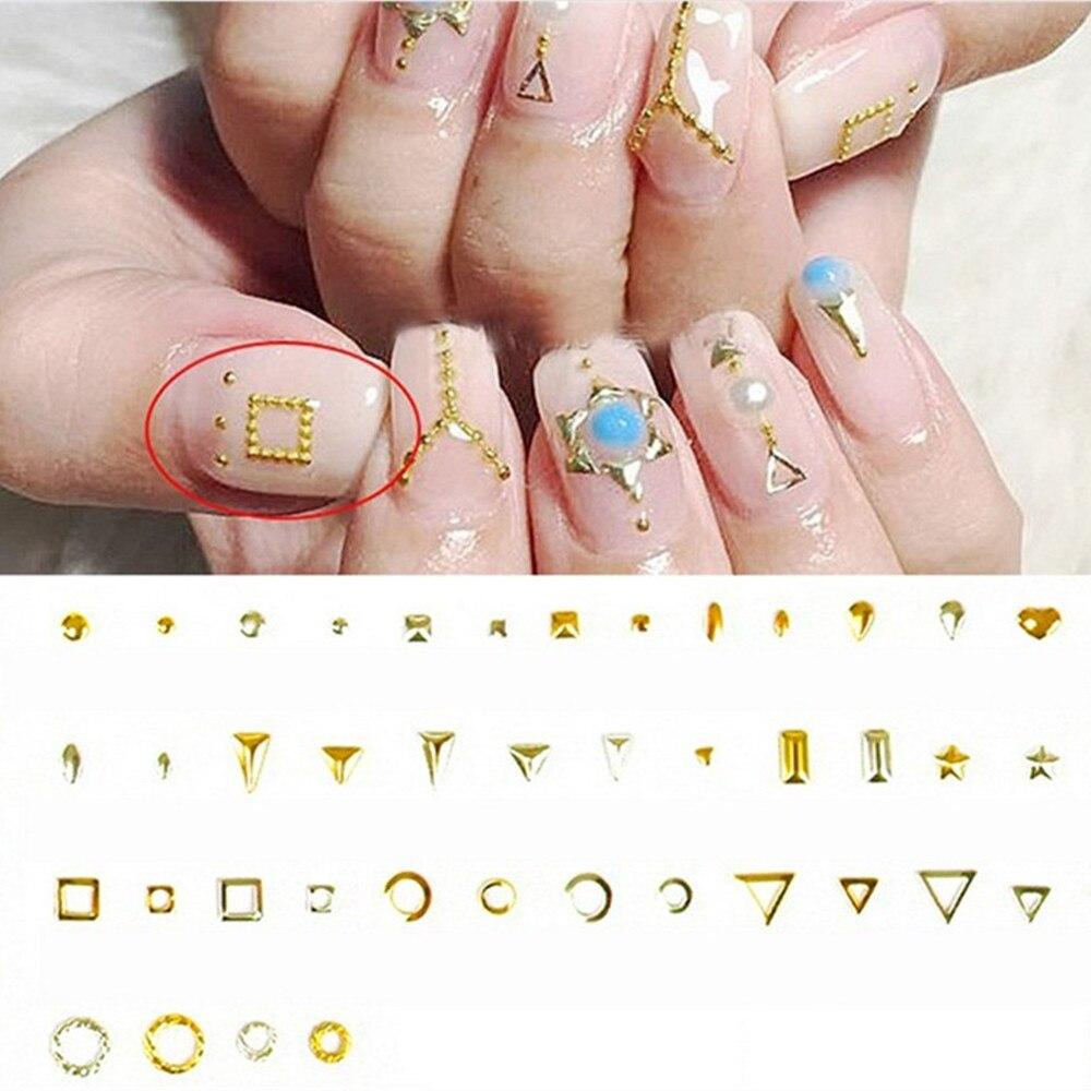 200pcs Japan 3D Metal Nail Art Alloy Studs Jewelry Accessories ...