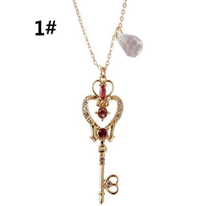 Anime Sailor Moon Loving Wand Crystal cosplay Pendant Necklace Girl accessories Cute props A769