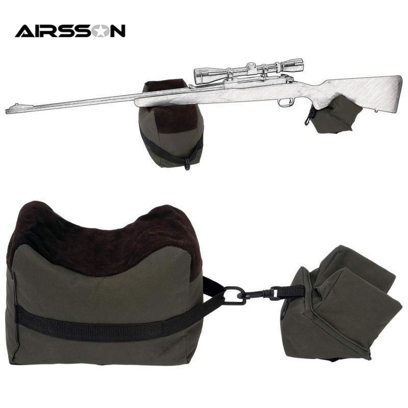 Airsoft Disparar Delantero y Trasero Bolsas Arma Gama Resto Rifle Objetivo de Ba