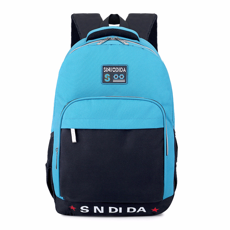 Oxford Fabric Patchword Unisex Casual Backpack Student School Bag Pack 15.6inch Laptop Backpack Travel For Men Women Back Pack