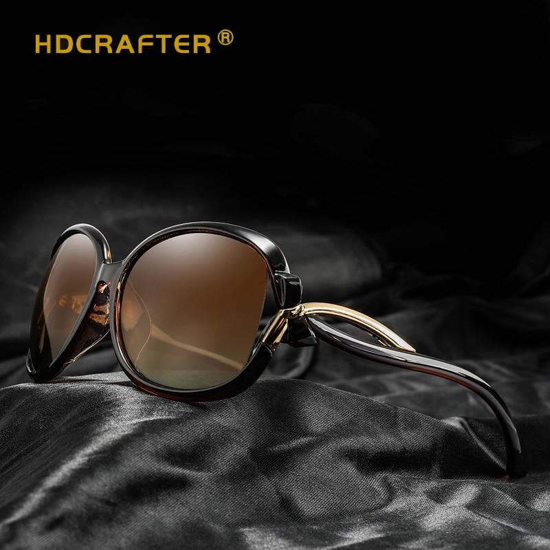 HDCRAFTER Для женщин Брендовая Дизайнерская обувь поляризованные очки элегантные солнцезащитные очки дамы высокое качество солнцезащитные оч...