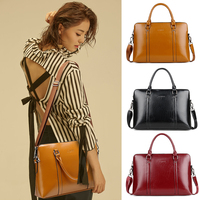 New fashion PU laptop bag 15.6 13 14 inch Handbag Notebook Sleeve women laptop shoulder bags laptop case 15.6 red black brown