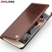 2017 For Huawei Honor9 5 2 Original QIALINO Brand Natural Calf Skin Genuine Leather Case Cover