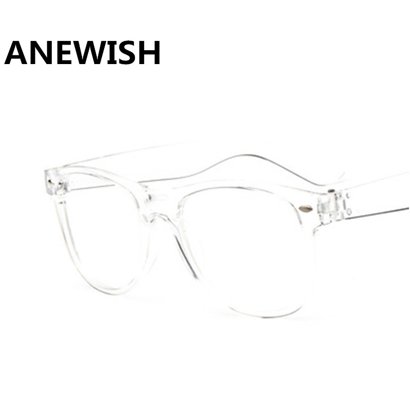 7d77d03c038 Cheapest Classic vintage women transparent white glasses flat mirror Street  shot trendy men eyeglasses student optical frames-in Eyewear Frames from  Apparel ...
