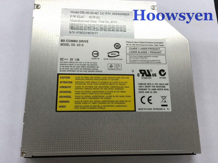 Blu-ray Optical Drive DS-4E1S BD-ROM Combo Player 8X DVD RW RAM DL 24X CD-R Burner 12.7mm Laptop Internal SATA