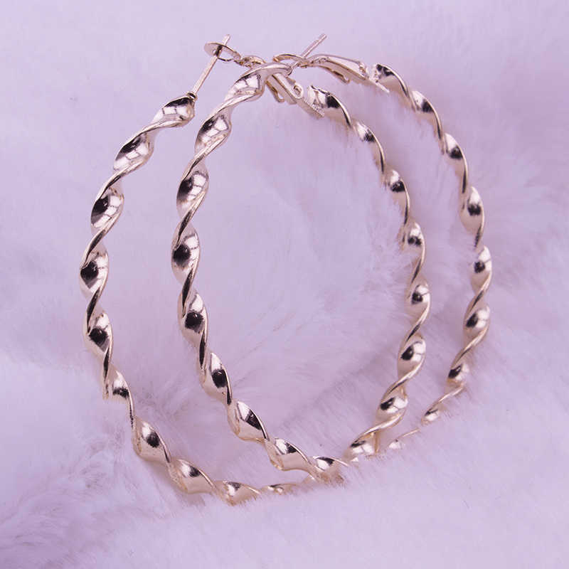 Simple Design Good Quality Large Circle Round 6CM Big Hoop Earring for Women Fashion Jewelry Earring Brincos