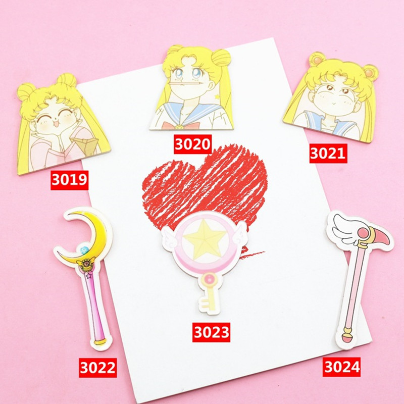 Cartoon Harajuku badges Sailor Moon Acrylic Brooch in Backpack Clothes Decoration Brooches for Women Clothes Badge