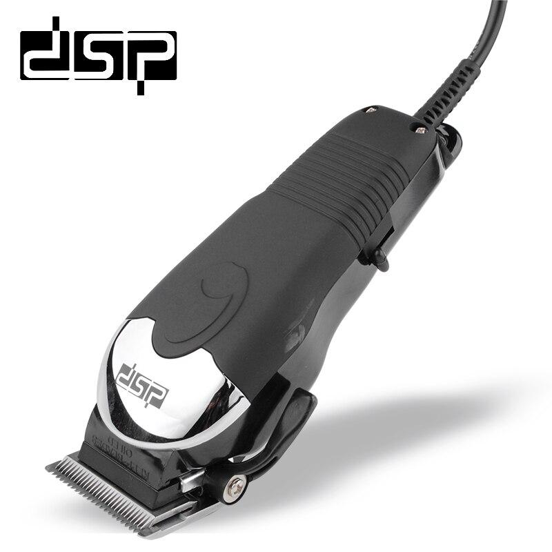 Dsp profissional máquina de cortar cabelo elétrica lâmina de aço titânio aparador de cabelo barbeiro máquina corte ferramenta de barbear