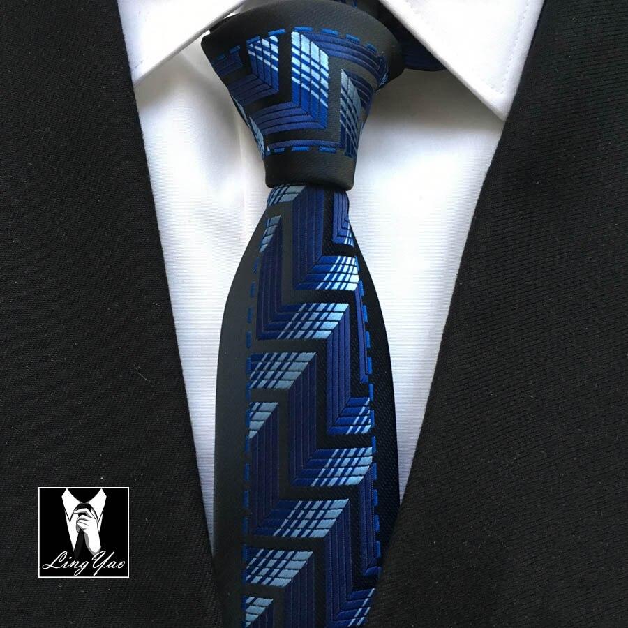 Pánové módní hubená kravata jedinečný geometrický vzor vazby pro svatební hostinu
