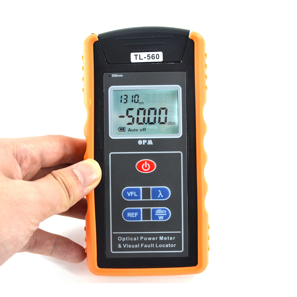 FTTH Fiber Optical Power Meter TL-560 OPM Built In 10mw Visual Fault Locator