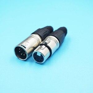 Image 5 - 10pcs/lot 3P 4P 5P 6P 7P XLR Male Female 6Pins Microphone Jacks Connector 7Pin XLR Audio Connector Plugs