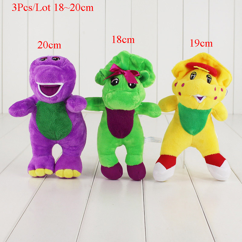 3Pcs/Lot Cartoon Movie Barney & Friends Plush Doll Toys Purple ...