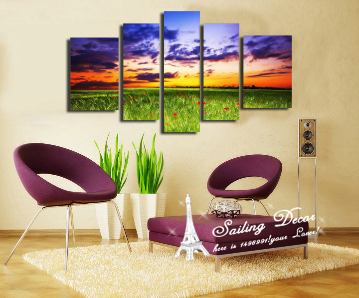 cool clouds modern art picture wall painting for living room wall art