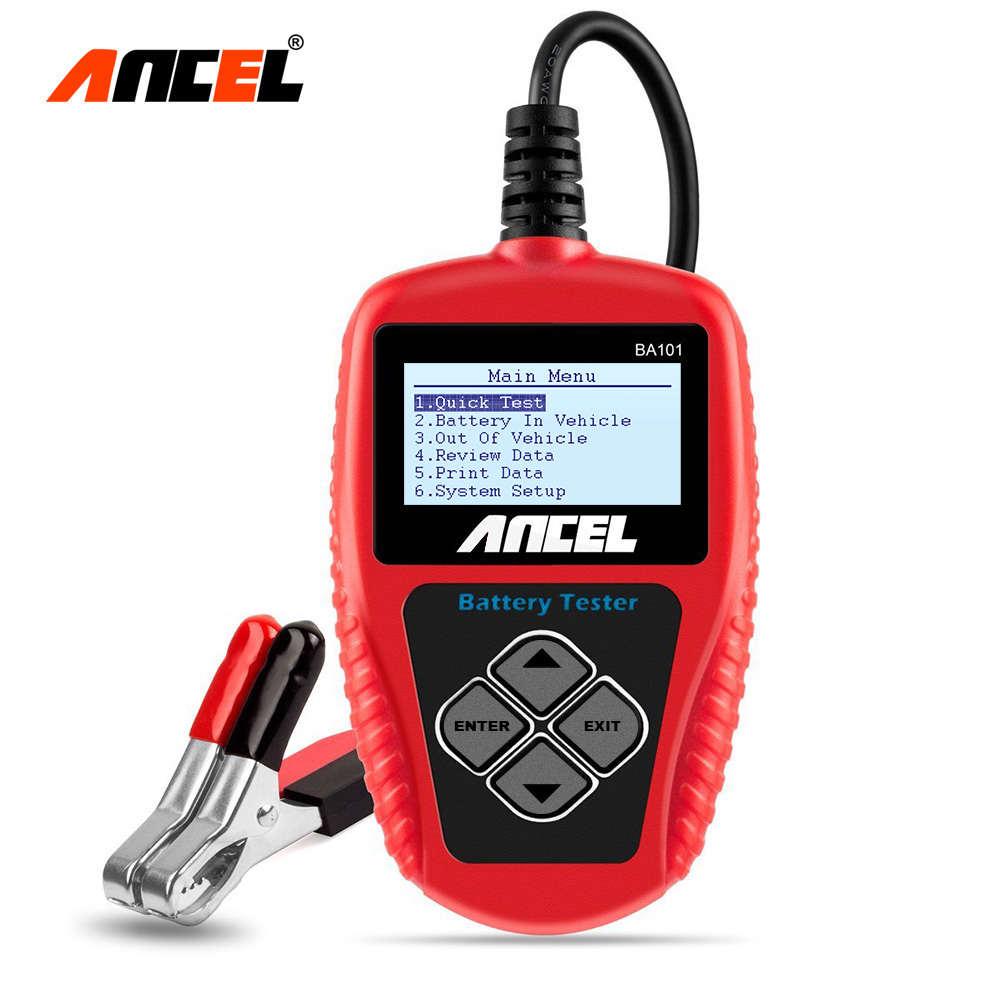 Battery Analyzer Ancel BA101 Battery Tester Charger 12V Digital Analyzer 2000CCA 220AH with Multi Languages Car Battery Tester