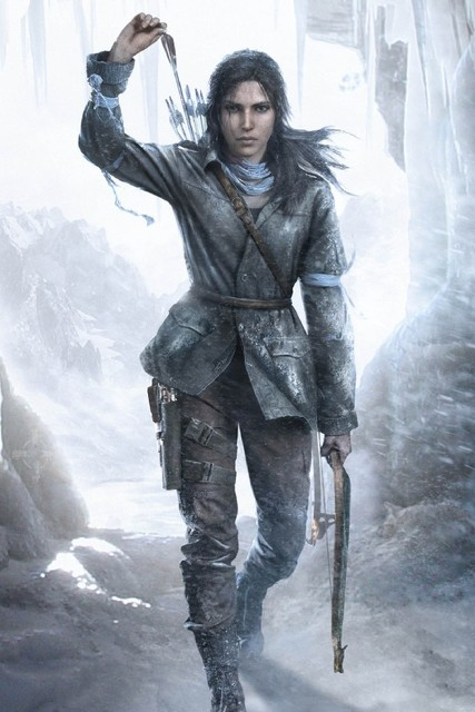 Rise of the tomb raider lara croft game poster waterproof Canvas ...