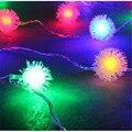 2 Peças Da Bateria 10 LED String Iluminação Luzes De Natal Dandelion Edelweiss Casamento Luzes De Fadas Do Casamento Do Natal Luzes De Natal