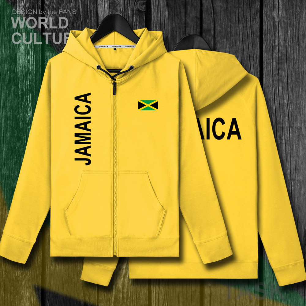 Jamaica JAM Jamaican Mens Fleeces Hoodies Sweatshirt Winter Zipper Cardigan Jerseys Men Jackets And Coat Tracksuit Clothes 2018