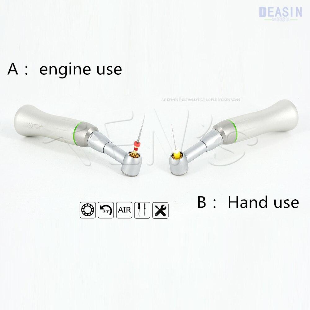 1 pçs x deasin 10:1 dental de baixa velocidade reciprocating contra ângulo handpiece para uso manual/arquivos do motor frete grátis