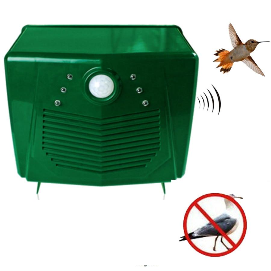 220V Ultrasonic Bird Repeller Pigeon Deterrent Anti Bird Pest Repellent For  Outdoor Garden Yard