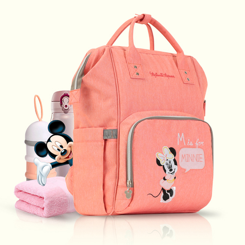 Disney Diaper Bag Baby Bag Cartoon Mummy Maternity Nappy Bag Brand Water proof Travel Backpack Designer