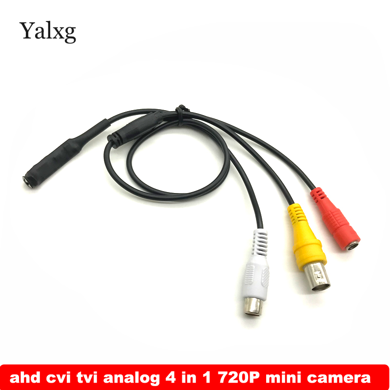 Yalxg 720P 1.0MP Super Mini Camera AHD TVI CVI Analog CVBS 4 IN 1 IR Night Vision UTC OSD Home Security CCTV Surveillance Camera ahd cvi tvi cvbs 4 in 1 1 3 6 cmos module 720p 1 0mp with osd function v20e ov9732