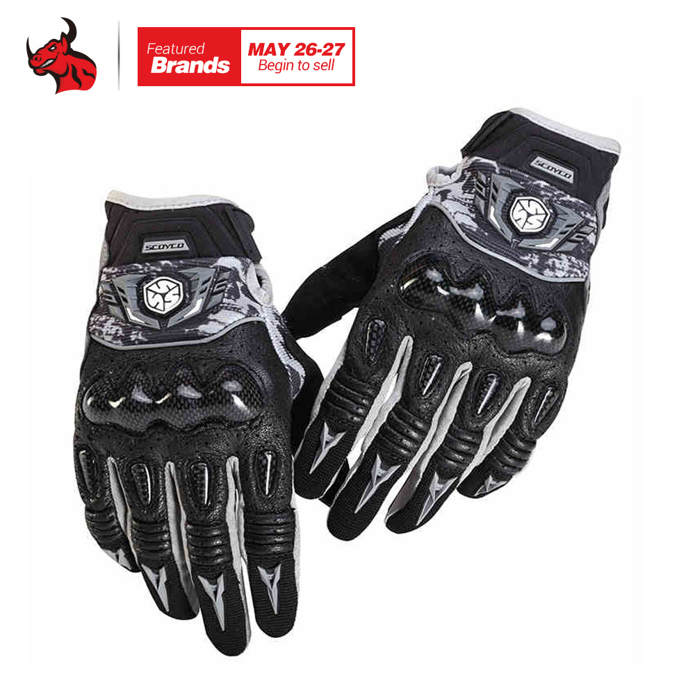 SCOYCO Motorcycle Gloves Breathable Wearable Leather Racing Gloves Men Women Motorbike Guantes Luvas Moto Motocross Gloves racmmer cycling gloves guantes ciclismo non slip breathable mens