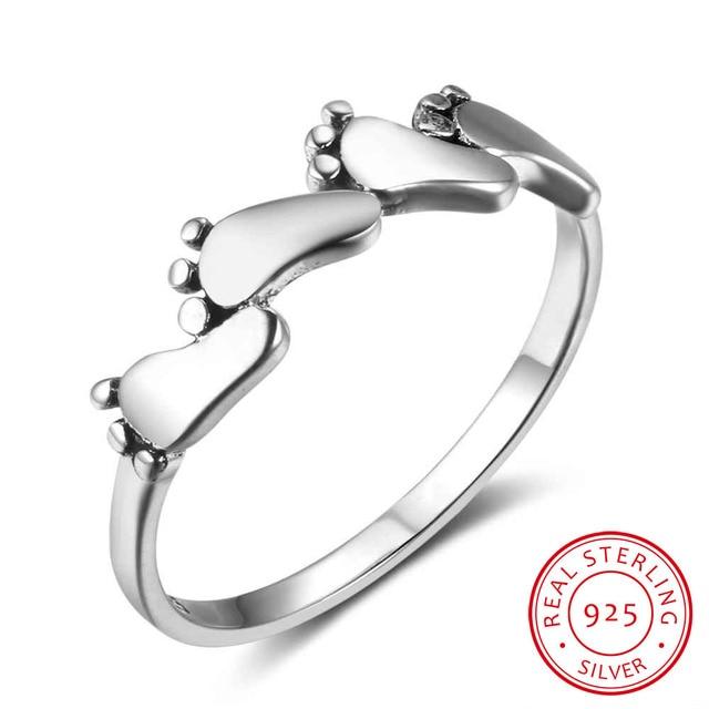 4f648845bd4f 925 anillos de plata esterlina para mujeres de cuatro pies de fiesta  Vintage anillo de plata