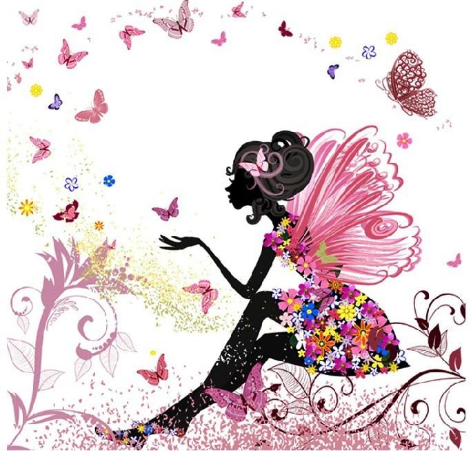 ₪[Súper ofertas] nuevo mosaico diamante pintura bordado flor Hada ...