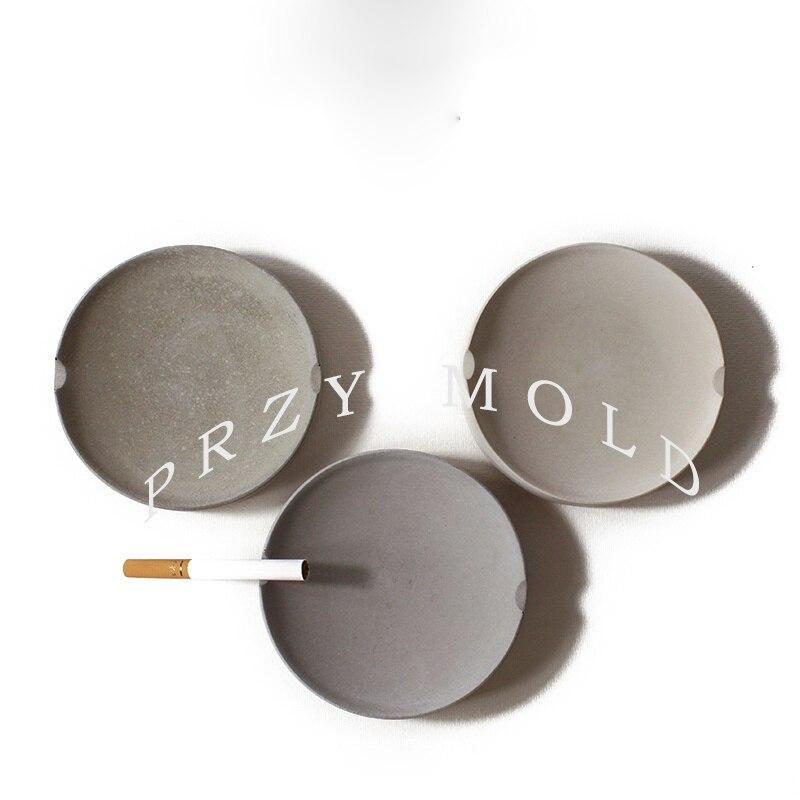 Silikagelová silikonová forma Betonová popelník kancelářská bytová dekorace dekorace kulatina cementová secí stroj kotoučová forma ručně vyráběné formy