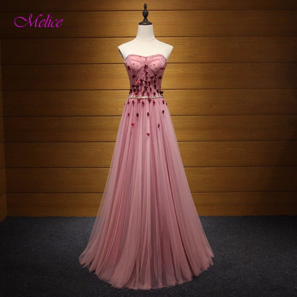 Fmogl charmante robe à lacets sans bretelles a-ligne longue robe de soirée 2019 perles fleurs cristal robe de bal robe de soirée Vestido de Festa