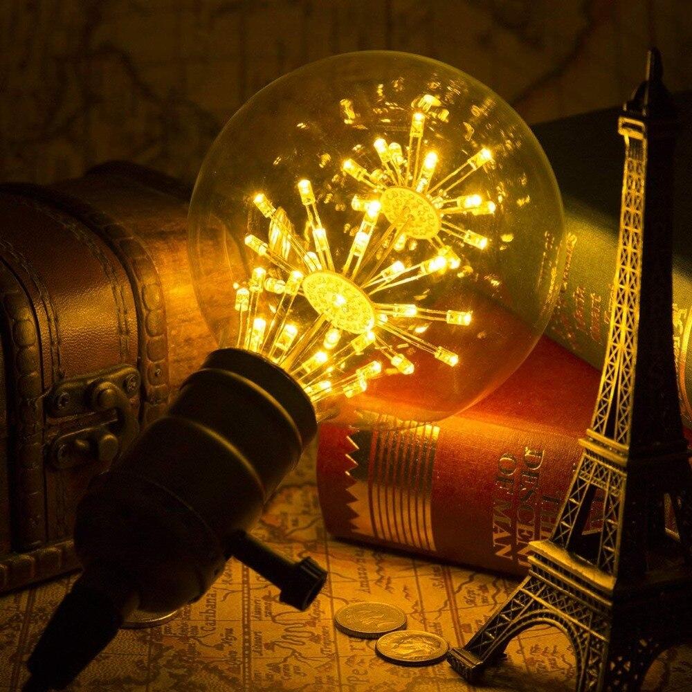 Image 4 - ST64 G95 A60 Starry Sky Dimmable led Bulb 3W 2200K E27 220V Wine Bottle Decorative Christmas Firework Lightbulb Lamp Lampada Led-in LED Bulbs & Tubes from Lights & Lighting