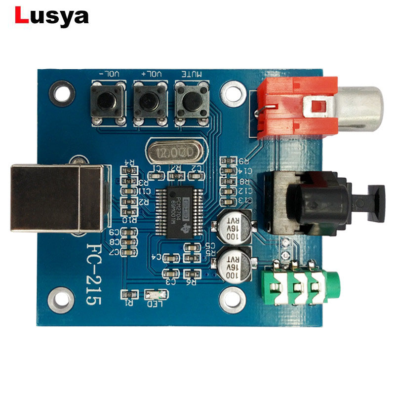 PCM2704 Audio DAC USB To S/PDIF Sound Card Hifi DAC Decoder Board 3.5mm Analog Coaxial Optical Fiber Output A1-010