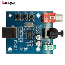 PCM2704 аудио ЦАП USB к S/PDIF звуковая карта hifi ЦАП Декодер плата 3,5 мм аналоговый коаксиальный волоконно-оптический выход A1-010