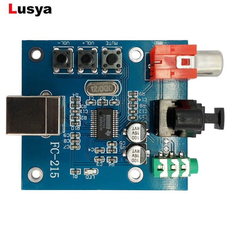 Tragbares Audio & Video Verantwortlich Pcm2704 Audio Dac Usb Auf S/pdif Soundkarte Hifi Dac Decoder Board 3,5mm Analog Koaxial Optische Faser Ausgang A1-010 Seien Sie In Geldangelegenheiten Schlau