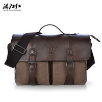 MANJIANGHONG Vintage Crossbody Bag Brand Canvas Shoulder Bags Men Messenger Bag Men High Quality Handbag Tote