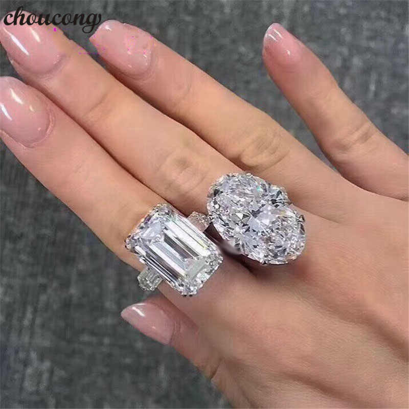 choucong Luxury Promise Ring Real 925 sterling Silver AAAAA Sona cz Engagement Wedding band Rings For Women Fine Jewelry