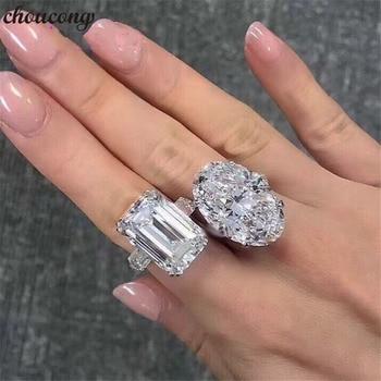 84c97d12b6aa Choucong anillo de promesa de lujo Real de plata de ley 925 AAAAA Sona cz  anillos de boda de compromiso para mujeres joyería fina