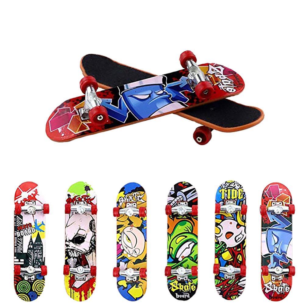 Alloy Print Professional Alloy Stand FingerBoard Skateboard Mini Finger Boards Skate Truck Finger Skateboard For Kid Toy Adult
