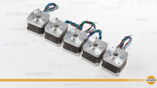 Free Ship From Germany! ACT 5PCS Nema17 Stepper Motor 17HS3404 2Phase 2800g-cm 0.4A 4-Lead CE ROSH ISO 3D Printer Robot
