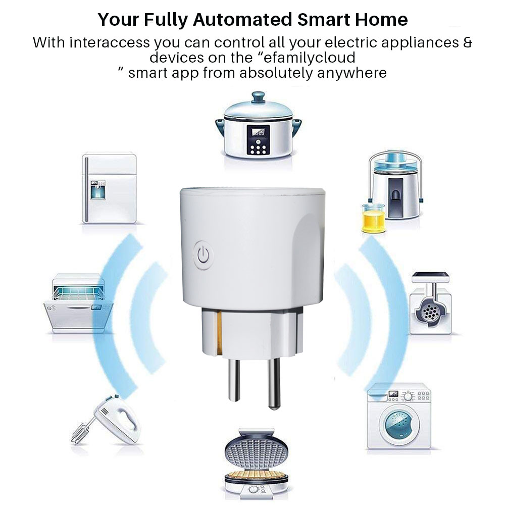 Image 3 - Smart WiFi Plug EU WiFi Socket 16A With Timing APP Control,Compatible Alexa Google Home Mini IFTTT Voice Intelligent Control-in Smart Power Socket Plug from Consumer Electronics