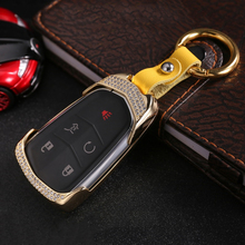 2019 New Luxury Diamond Car Key Case Key Shell Key Fob Holder Remote For Cadillac XTS SLS CTS XTS SRX ATS Women Gift Accessories new factory touch screen use for cadillac ats cts srx xts cue car dvd gps navigation cadillac touch display digitizer