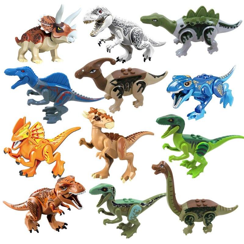 12 Stks/set Jurassic World Park Dinosaurus Raptor Indoraptor Model Cijfers Bouwstenen Speelgoed Voor Kids Gift Compatibel Met Lego Zorgvuldig Geselecteerde Materialen