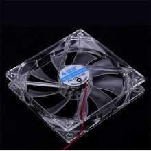 PC Computer Fan Quad 4 LED Light 120mm PC Computer Case Cooling Fan Mod Quiet Molex Connector Easy Installed Fan 12V Hot sales a057 quiet pc case fan w led 4 color light transparent