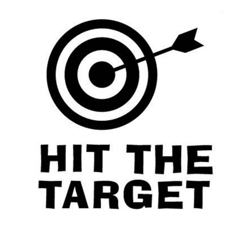 Hit The Target Toilet Sticker Home Decor Wall Stricker Funny Wall Bathroom Toilet Sticker