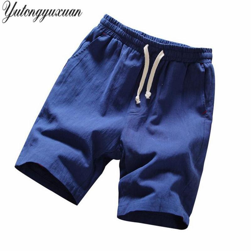 Brand Men   Shorts   Cotton Linen   Shorts   Men 2018 Summer   Shorts   Male Bermuda Beach   Board     Short   Pants Man Big Size Harajuku M-5XL