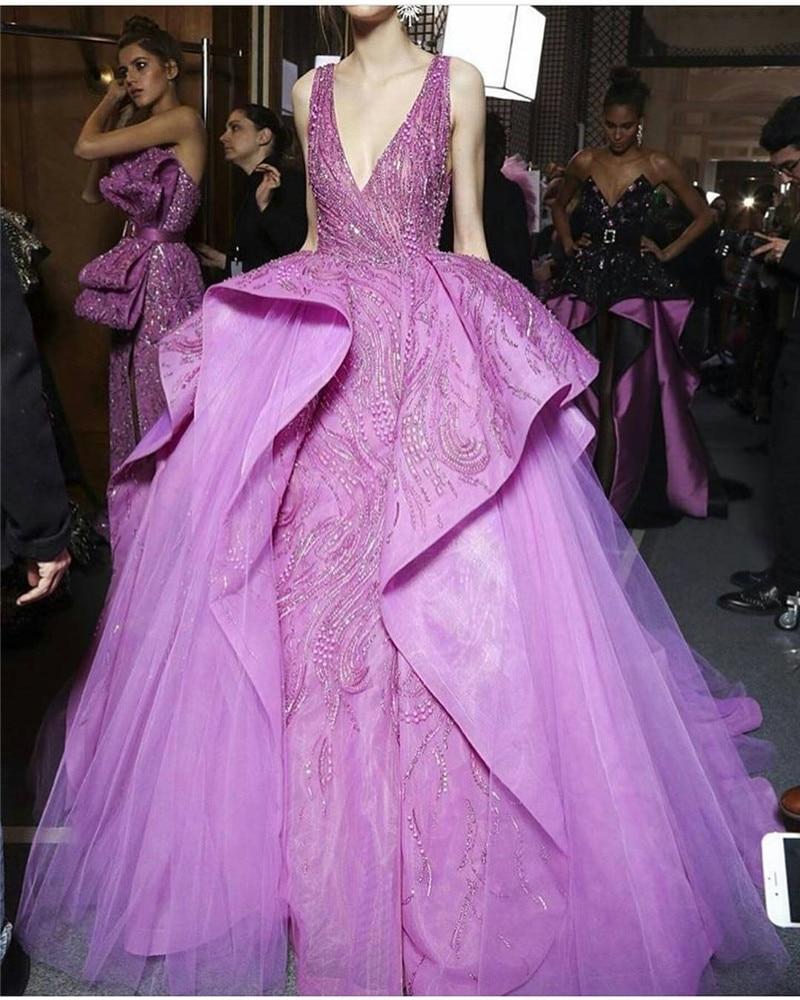 Lujo Azul Y Púrpura Vestidos De Fiesta Embellecimiento - Ideas de ...