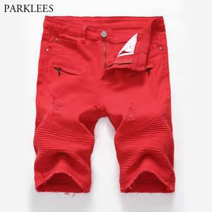 843d714d7f6b PARKLEES Denim Shorts Bermuda Men Hip Hop Jean Casual