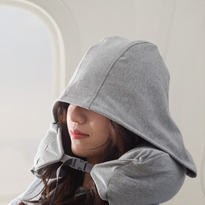 U-shaped travel pillow particl