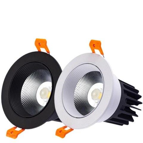 super bright led downlight dimmable cob luz do ponto do teto luz 10 w conduziu