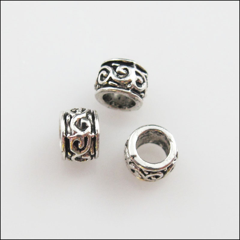 20pcs Zinc alloy nice Flower charms big hole beads 5mm
